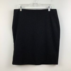 Le Chateau High Waist Pencil Skirt in Black